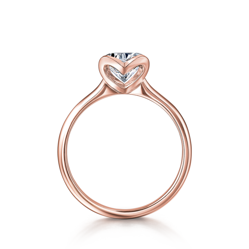 Shimansky Two Hearts Diamond Ring