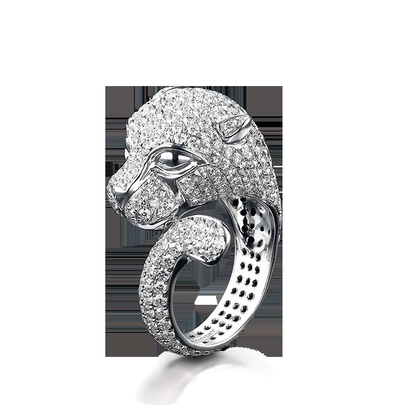 Shimansky Untamed Panther Rings