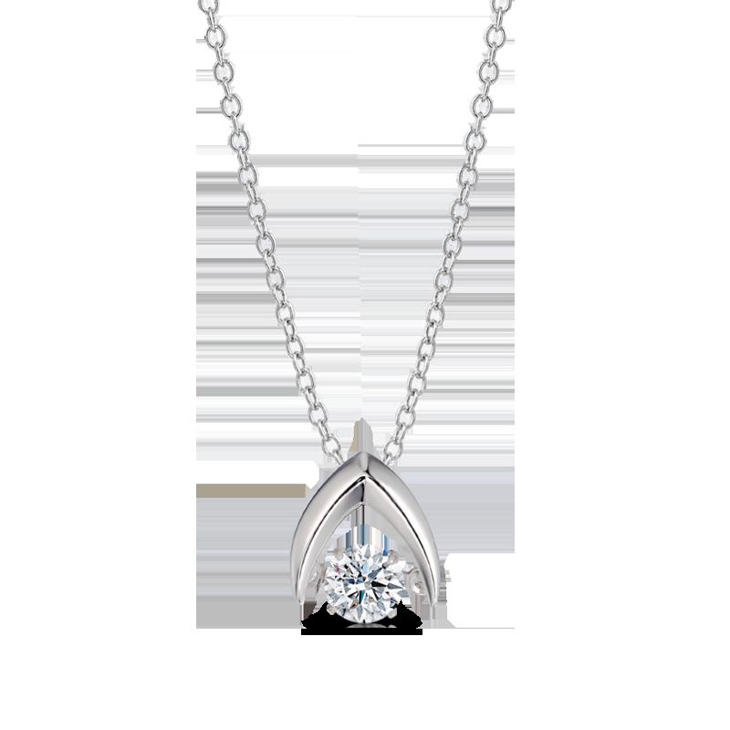 Shimansky Dancing Diamond Wishbone Pendant