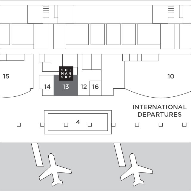 Shimansky Jewellers Cape Town International Airport Map