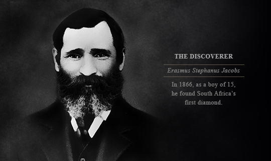 Erasmus Jacobs discoverer of the first diamond in South Africa
