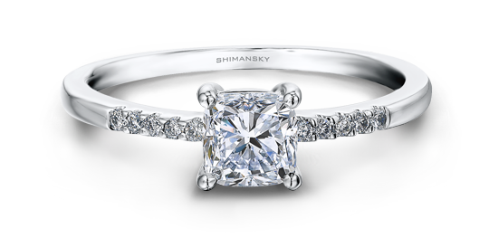 Shimansky Cushion Cut Diamond Ring