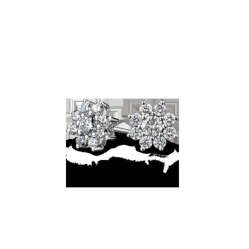 flower-style-diamond-earrings