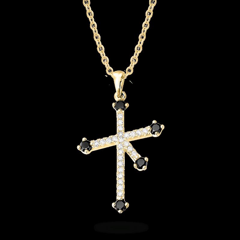 Southern-Cross-micro-set-black-and-white-diamond-pendant-yellow-gold-01