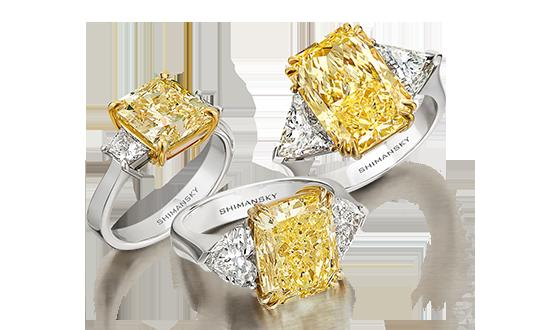 Shimansky Fancy Yellow Diamond Jewellery
