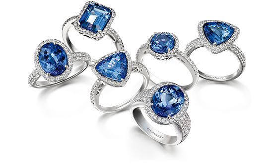 Shimansky Exclusive Ayanda Tanzanite Rings