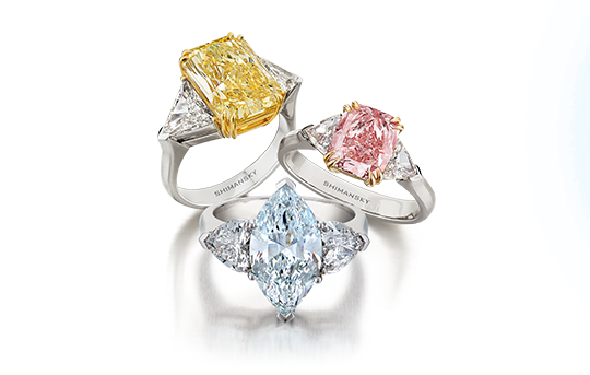 Naturally Fancy Coloured Diamonds