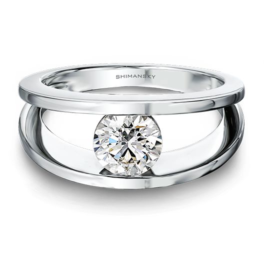 Shimansky Designer Platinum Rings
