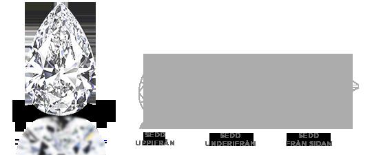 Pear Shape Diamond Cut Facets