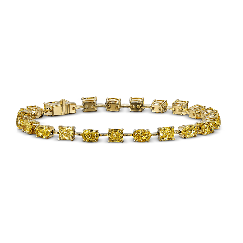 02-cushion-and-oval-shape-fancy-yellow-diamond-bracelet-set-in-yellow-gold