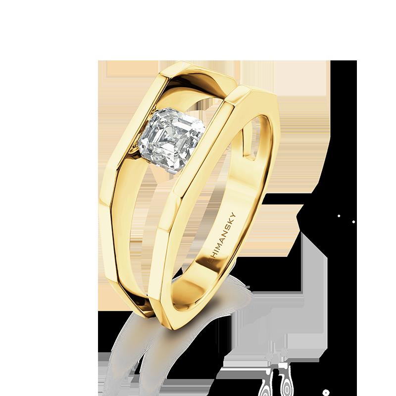 millennium-square-emerald-cut-diamond-ring-for-men-shimansky-01