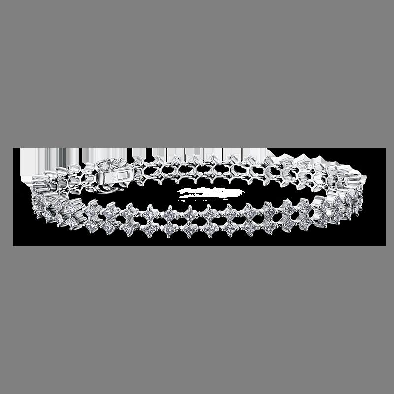 my-girl-claw-set-double-row-diamond-bracelet