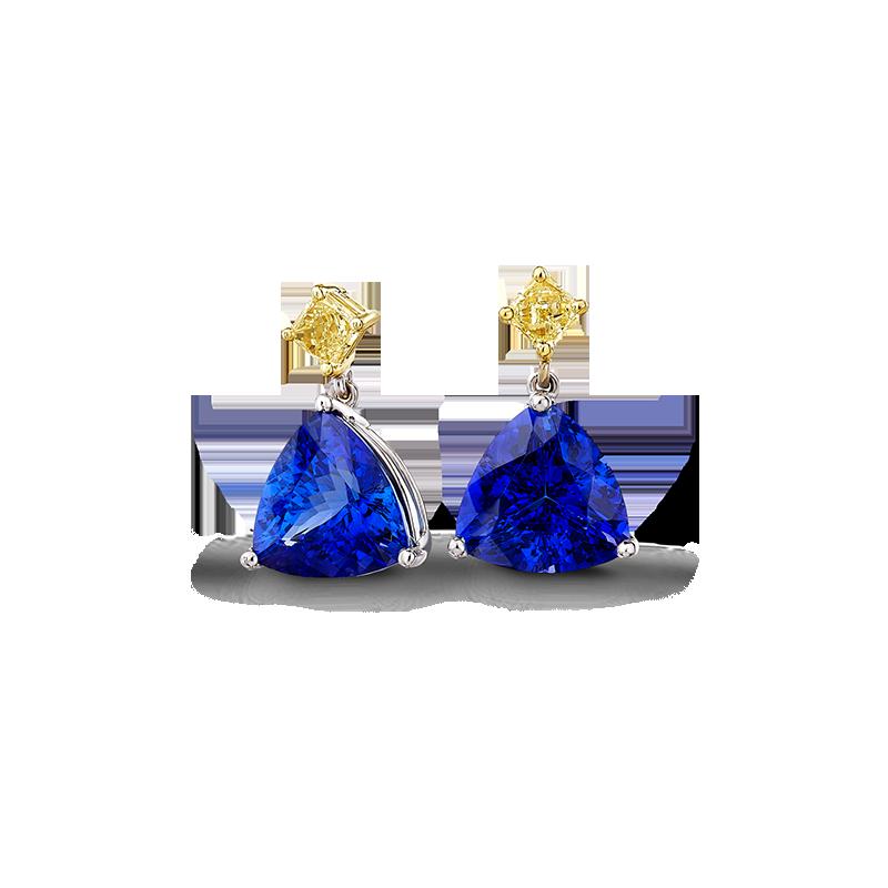 03-trilliant-tanzanite-and-fancy-yellow-diamond-drop-earrings